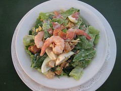 shrimp, meal, salad, vegetable, thai food, seafood, food, dish, cuisine, caesar salad,