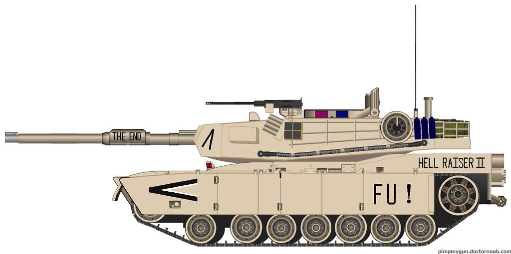 m1a1 abrams tank hell raiser 2