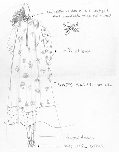 Original Sketch by Perry Ellis