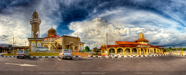 Twin mosque of sg-ramal-panorama-hdr-photography