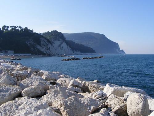 A beautiful view of Monte Conero, Le Marche Coast.
