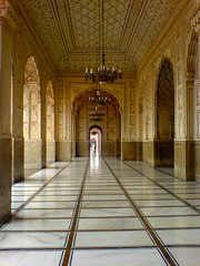 Beautiful Interior Of Badshahi Mosque