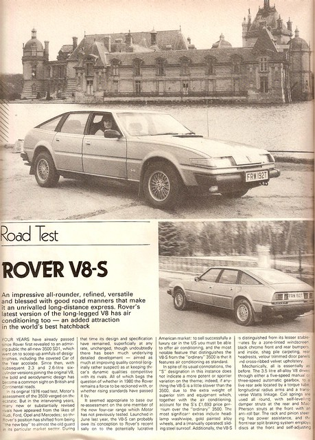 Rover 3500 V8-S SD1 Road Test 1980 (1)