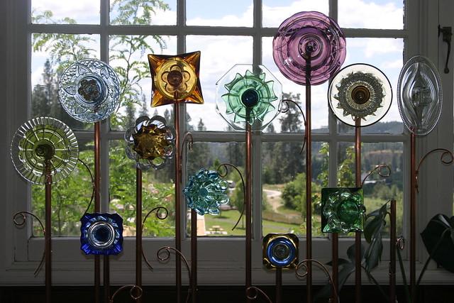 Recycledartist glass garden ornaments flickr photo for Recycled glass garden ornaments