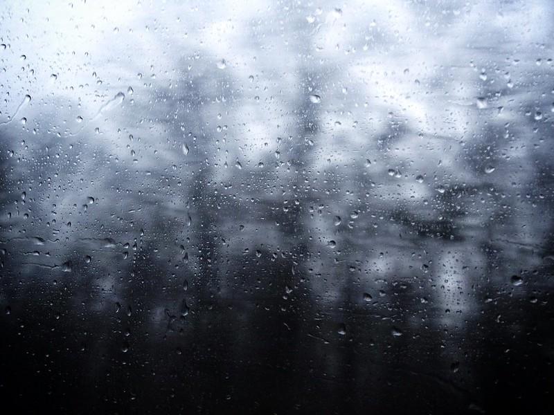 Rain from the train