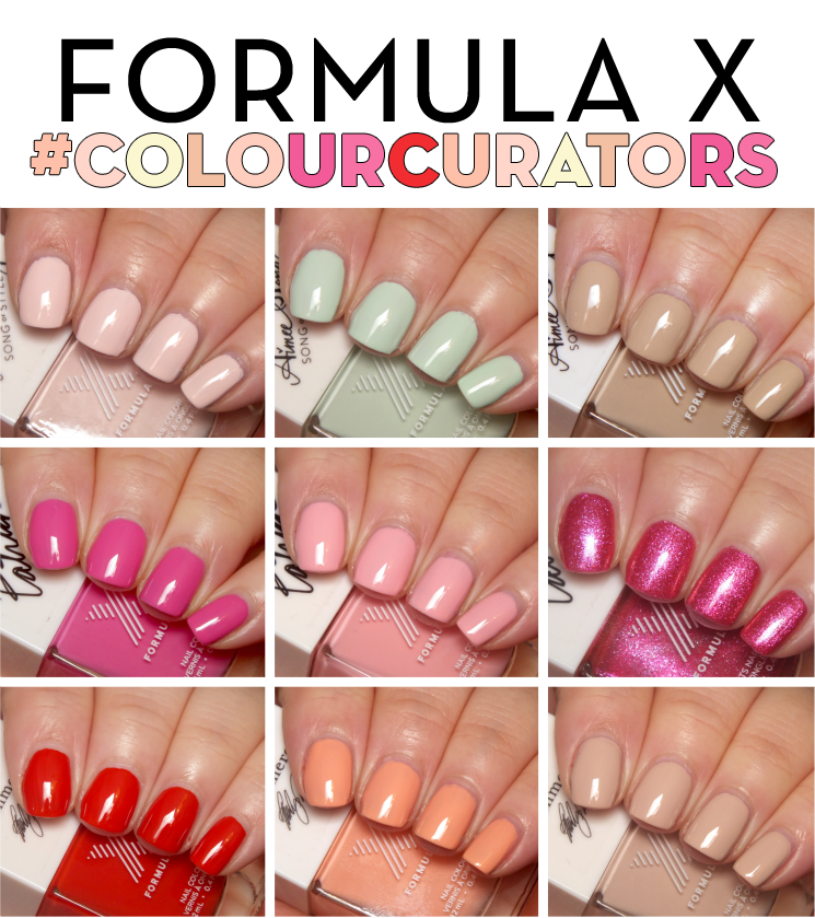 Formula x #colourcurators January February March swatches