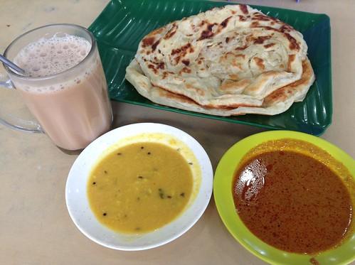 Roti Canai RM 1.2 x2, Teh Tarik RM 1.5