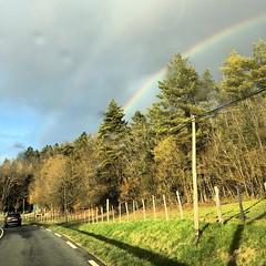 #rainbow on the road