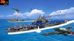 USS Enterprise CV-6 under attack