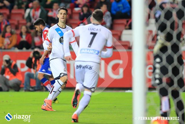 Liga BBVA. Sporting de Gijón 1 - Deportivo 1