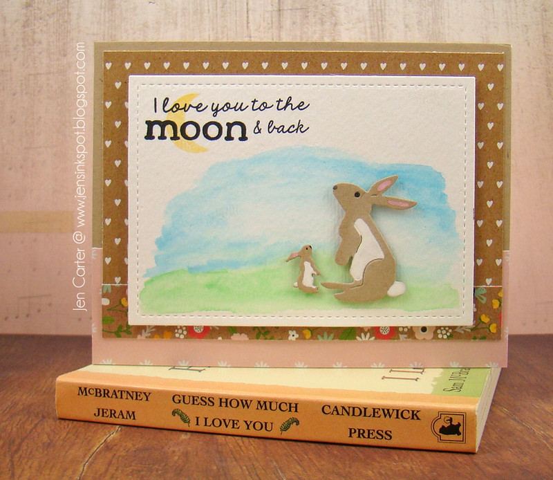 Jen Carter Bunnies Love Moon Back