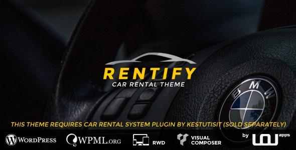 Rentify v1.0.4 – Car Rental WordPress Theme