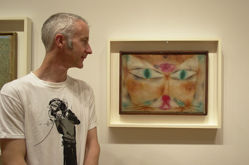 J with a painting by Paul Klee