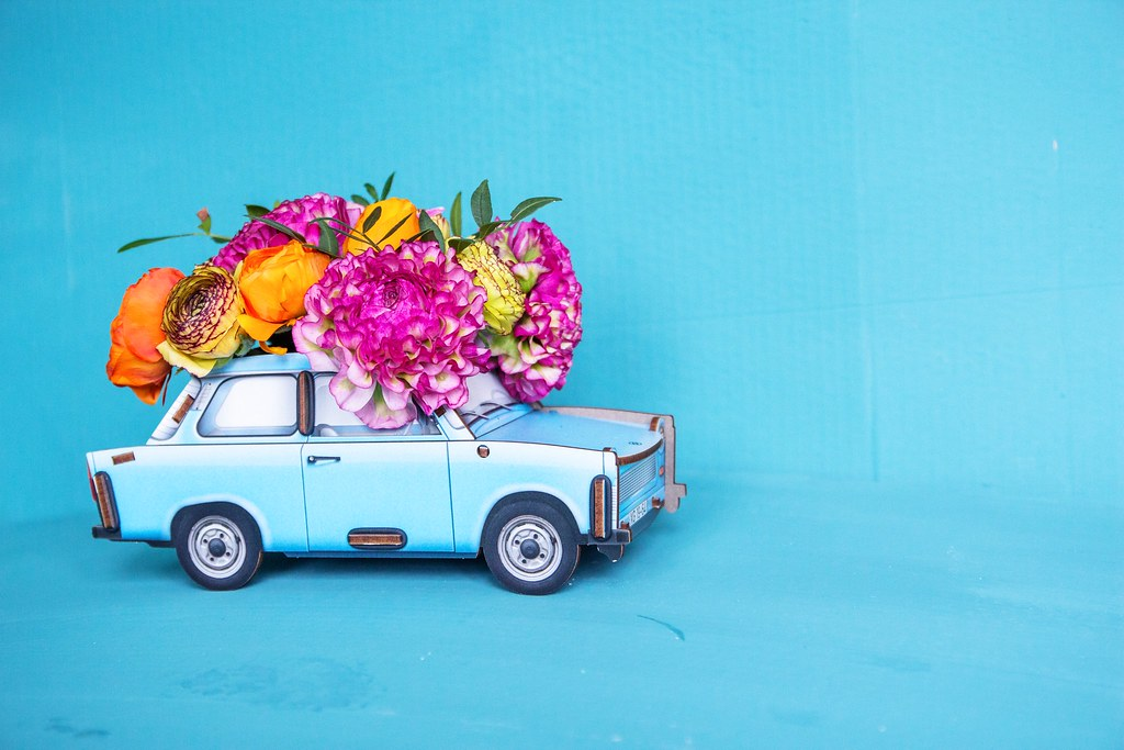 flowersincar