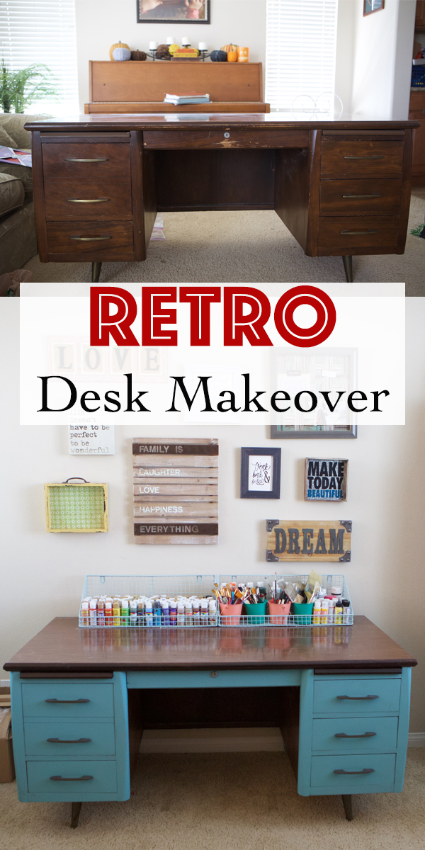 Retro Desk Makeover with Chalk Paint