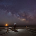Midnight Explorer at Avalon NJ - Milky Way Moonrise by Mike Ver Sprill - Milky Way Mike