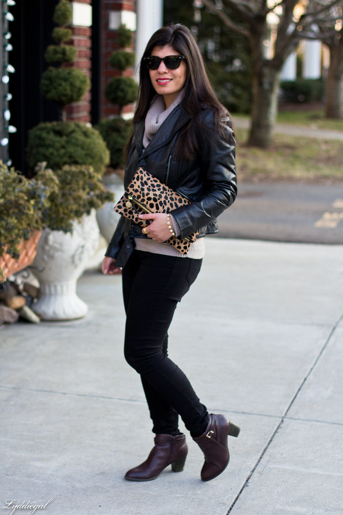 leather jacket, cowl neck sweater, leopard clutch-2.jpg