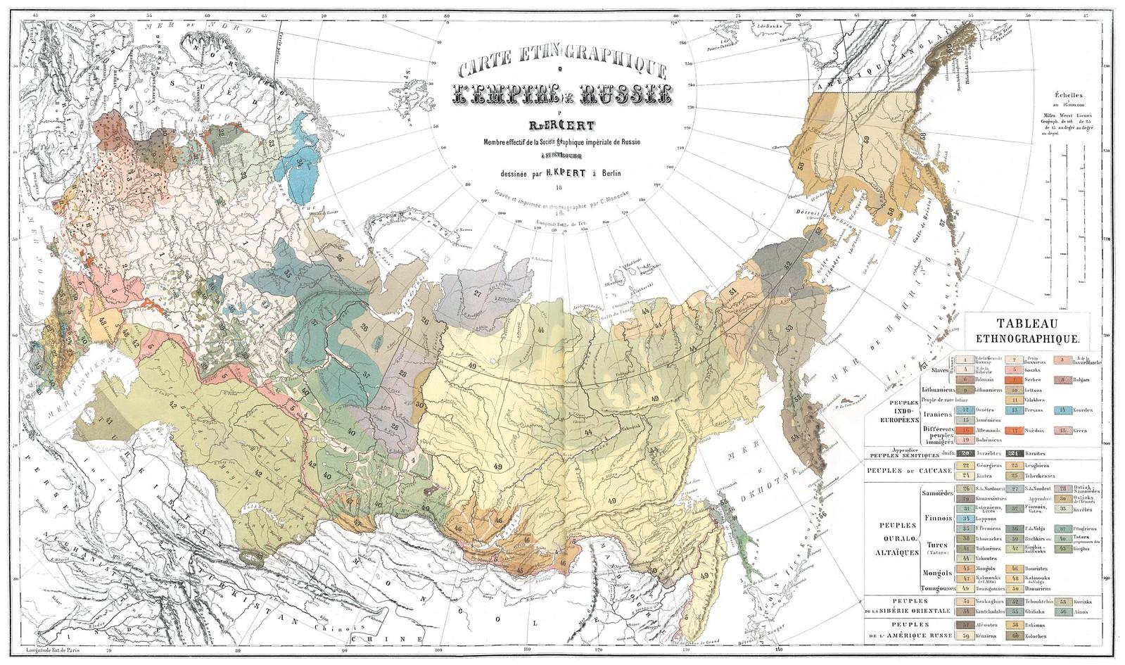 Этнографическая карта российской Империи