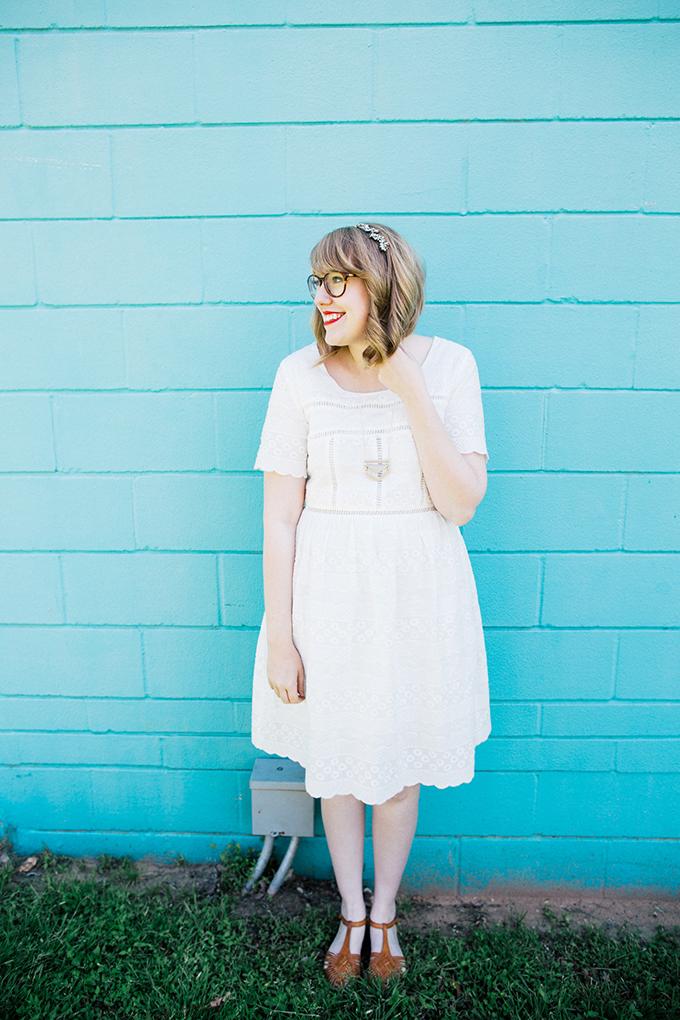 francescas eyelet dress