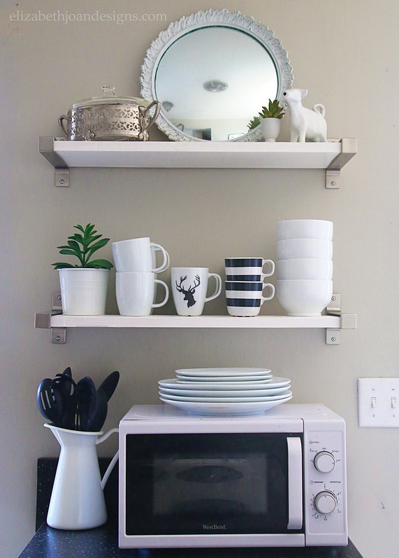 Neutral Shelf Styling For Spring