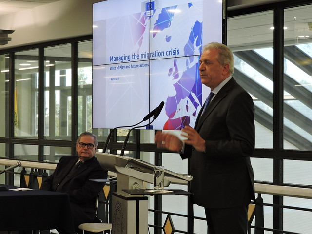 EU Commissioner Dimitris Avramopoulos at Deree