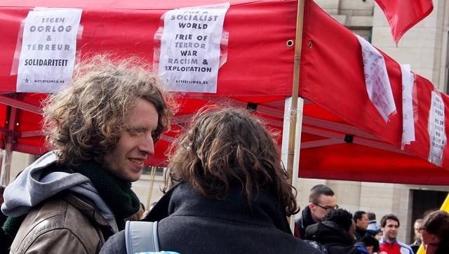 Betoging tegen gevechtsvliegtuigen // Foto's door Liesbeth