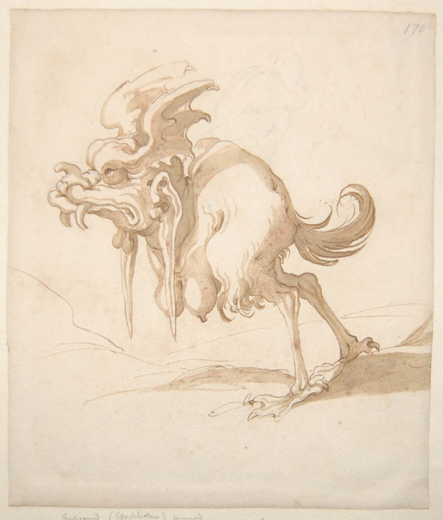 Arent van Bolten - Monster 170, from collection of 425 drawings, 1588-1633