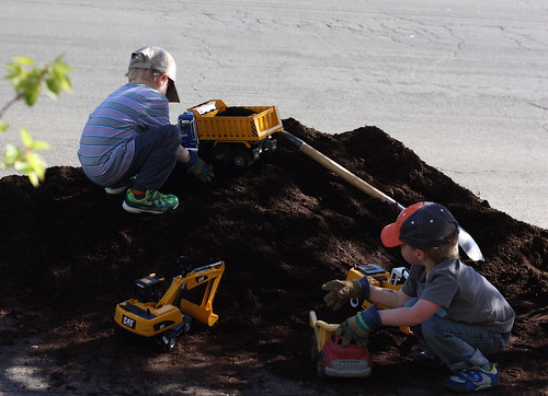 Mulch Pile Fun