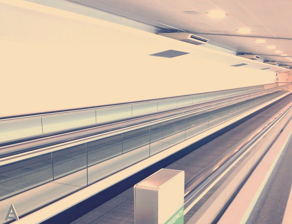 used airport moving walkway