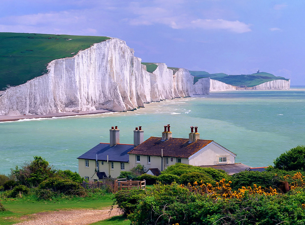 Seven Sisters Cliffs, near Seaford town, East Sussex, England. Photo credit miquitos