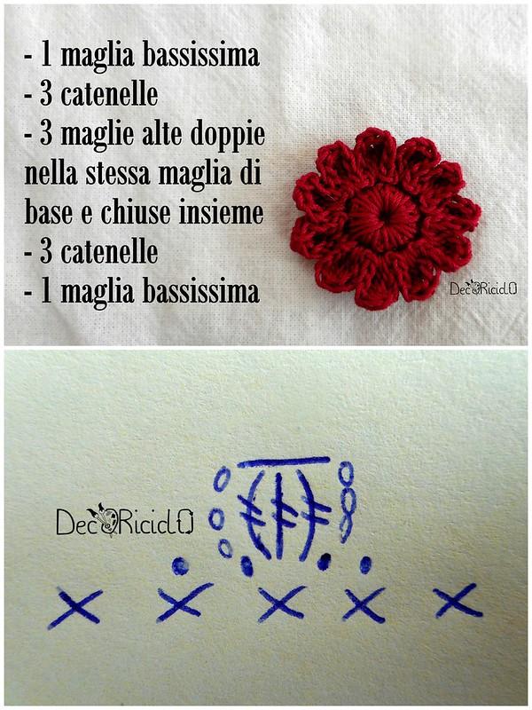 fiori uncinetto un solo schema 8