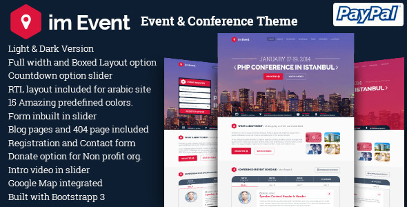 im Event v3.0.0 – Event & Conference WordPress Theme