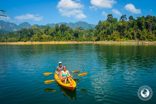 Kayaking in Khao Sok National Park Thailand