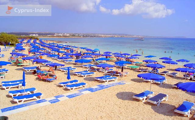 Пляж Макронисос. Пляжи Кипра а городе Айя-Напа