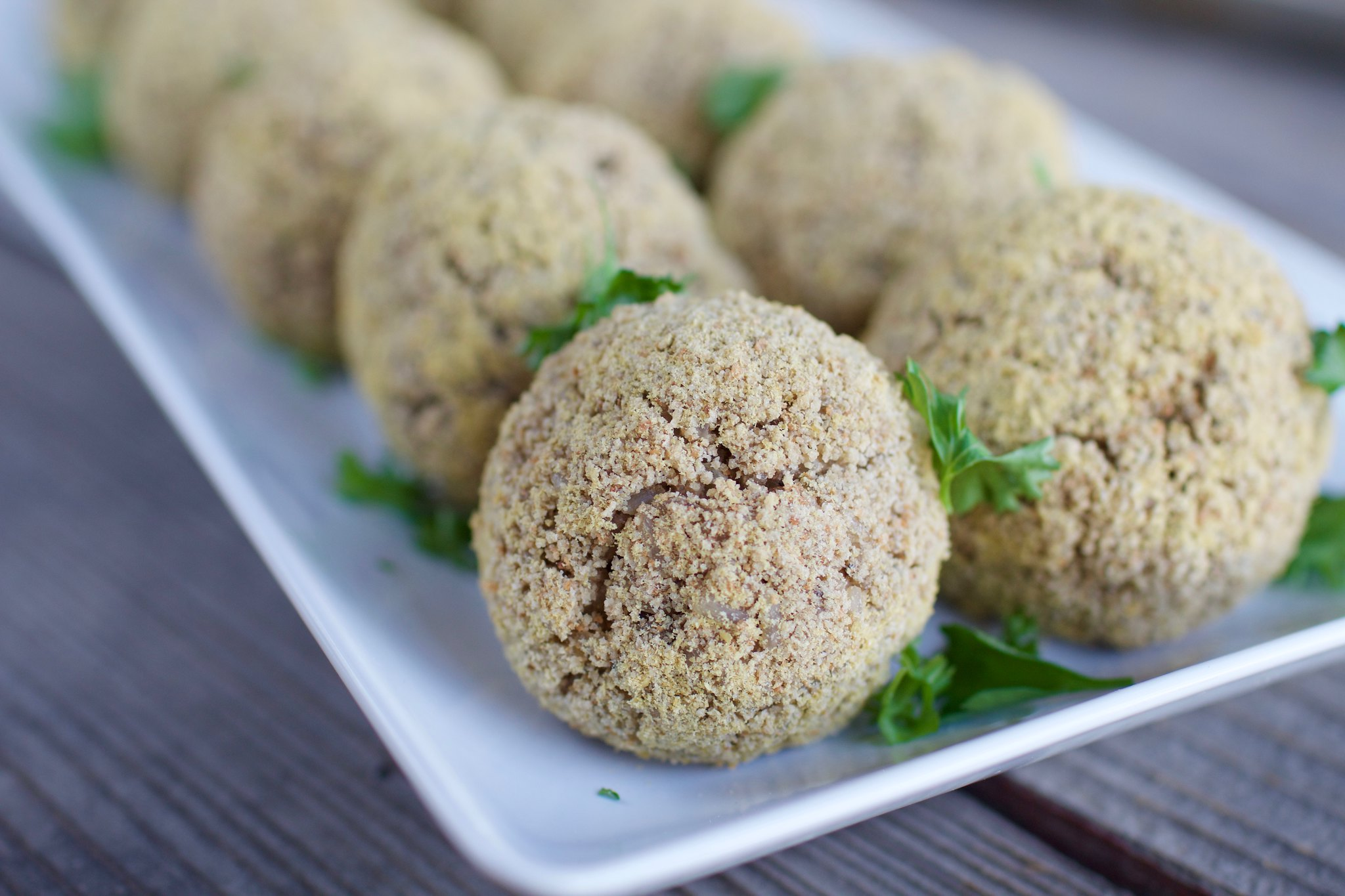 Crispy Baked Rice Balls (oil-free) sweetsimplevegan.com