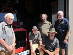 Mallala Museum volunteers working on the Reo