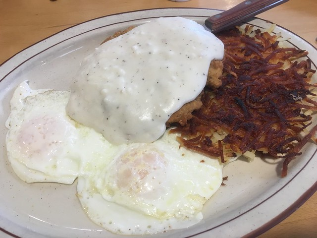Chicken fried steak and eggs - Joe's Place