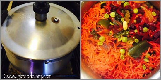 Beetroot Pulao Recipe for Babies, Toddlers and Kids - step 7