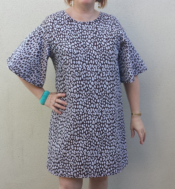 Papercut Patterns Flutter tunic in jacquard from Darn Cheap Fabrics