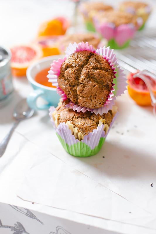 Blood Orange Poppy Seed Muffins
