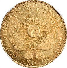 PERU. South Peru. 8 Escudos obverse