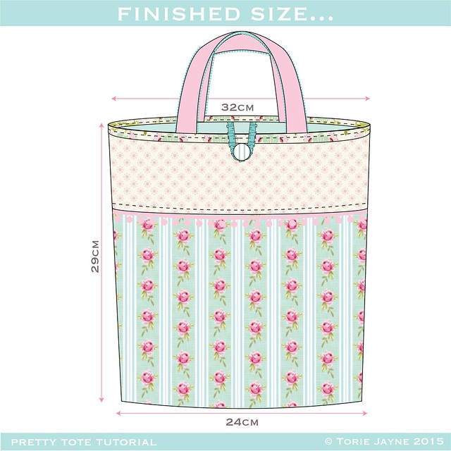 Pretty tote tutorial - finished size