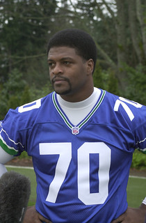 Seahawk player Michael Sinclair, 2002