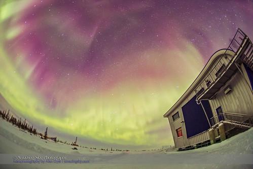 Aurora in Orion Over Churchill Northern Studies Centre