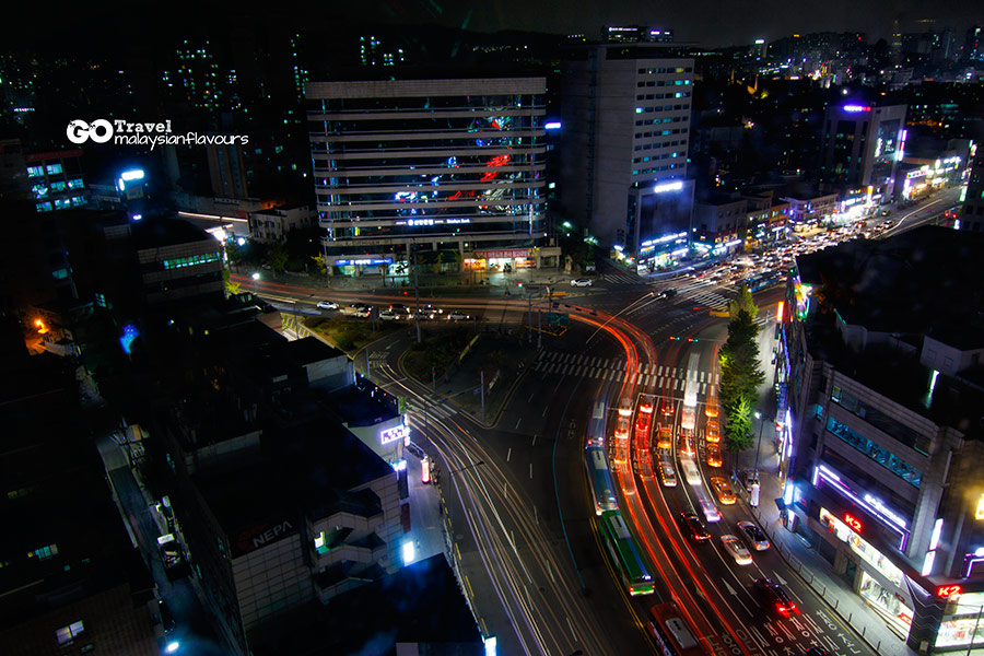 Room+Plus Hostel Korea night view
