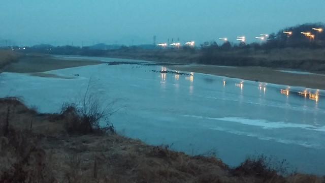 공릉천 관찰일기 | 청둥오리 자리는 얼지 않는다?