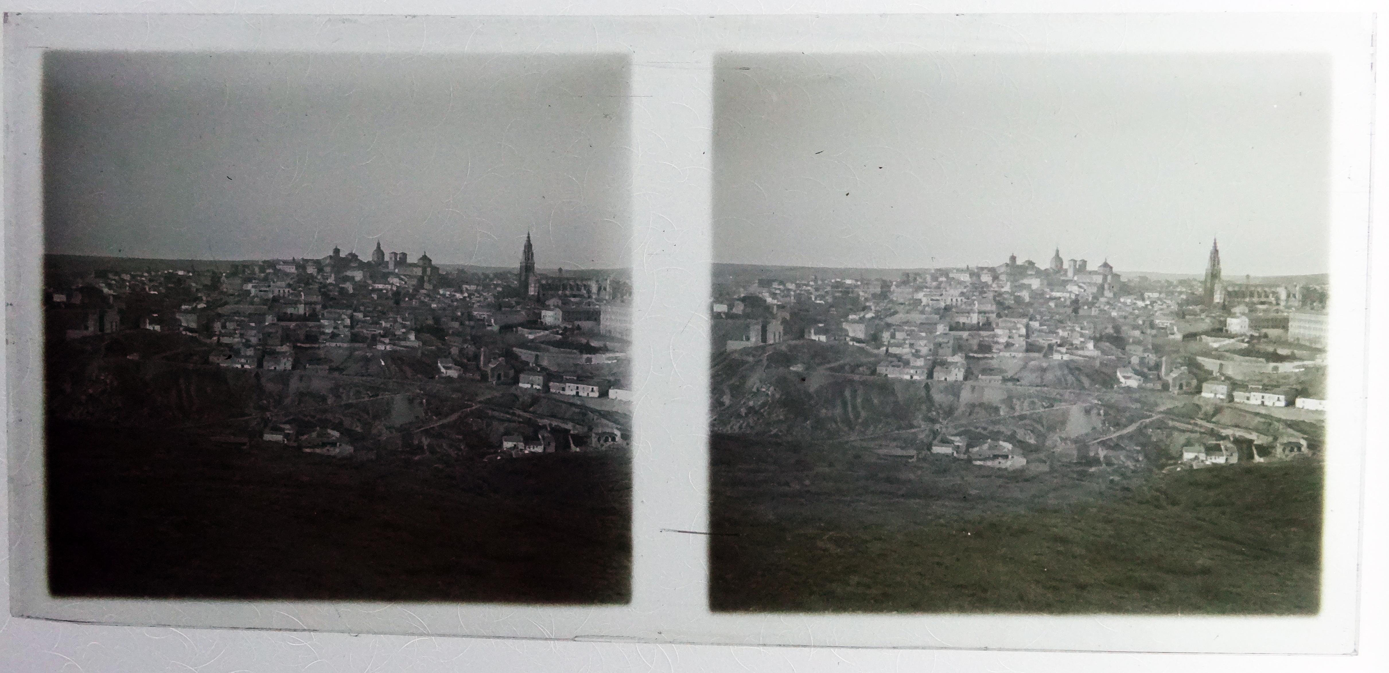 Vista general de Toledo desde los cigarrales. Fotografía de Francisco Rodríguez Avial hacia 1910 © Herederos de Francisco Rodríguez Avial
