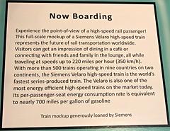 Siemens High Speed Train mock-up Info