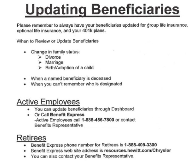 Update Beneficiaries Update-page1