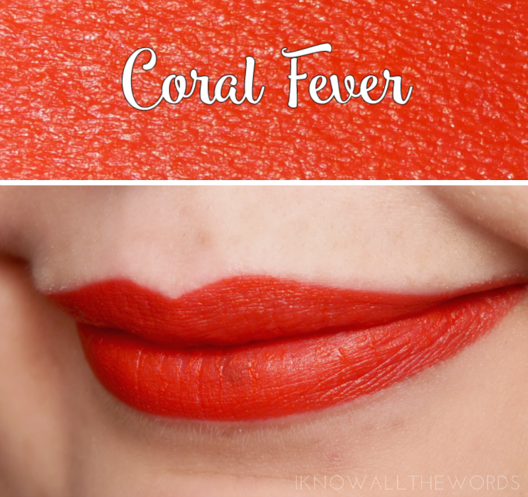 Avon True Colour Perfectly Matte Lipstick Coral Fever